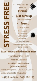 Mindfulness flyer brown x 1