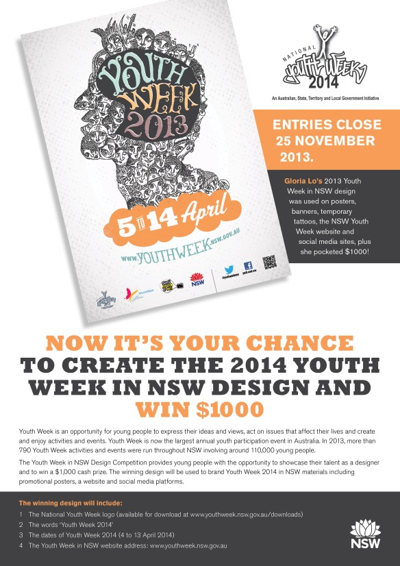 Design Competition Flyer - Youth Week 2014