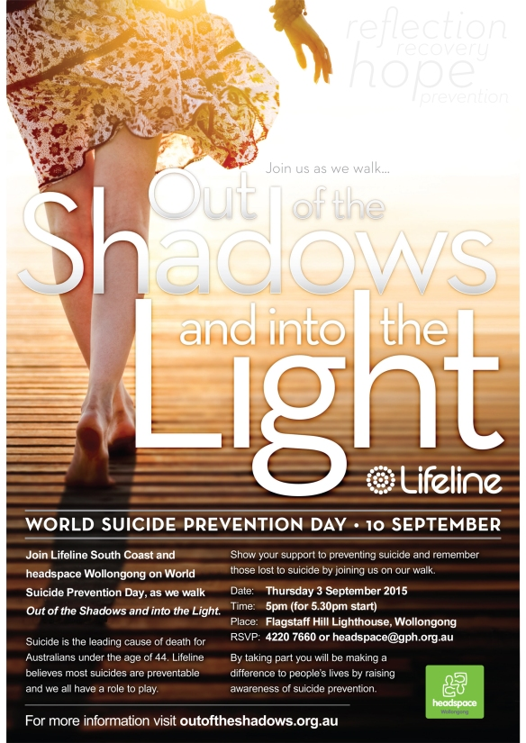 20150903 Lifeline Out of the Shadows - Wollongong (A4)