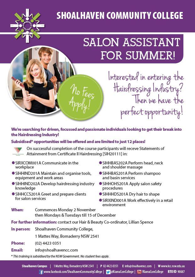 salon assistant for summer funded students_printpdf adobe acrobat reader dc - Salon Assistant