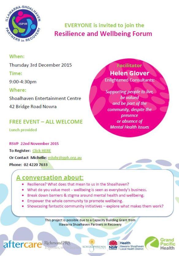 INVITE Shoalhaven Wellbeing Forum.pdf - Adobe Acrobat Reader DC