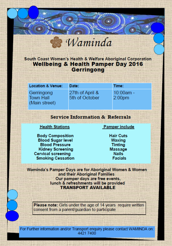 Waminda gerringong pamper day 2016.pdf - Adobe Acrobat Reader DC