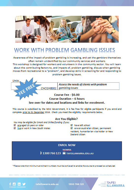 work-with-problem-gambling-issues-skill-set-flyer-2016-fee-free-sem-2-read-on
