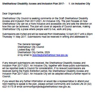 Shellharbour Disability Access and Inclusion Plan