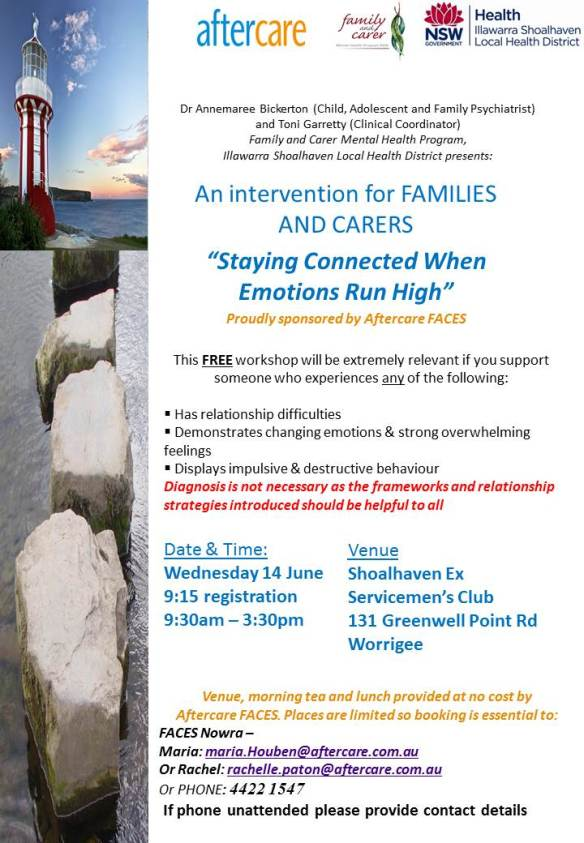 Staying Connected Families and Carers Shoalhaven Wednesday 14 June 2017....