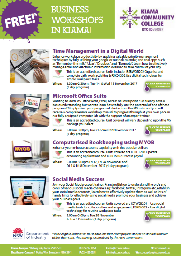 Tech Savvy Business Courses-Kiama_WEB-EMAIL.pdf - Adobe Acrobat Reader DC