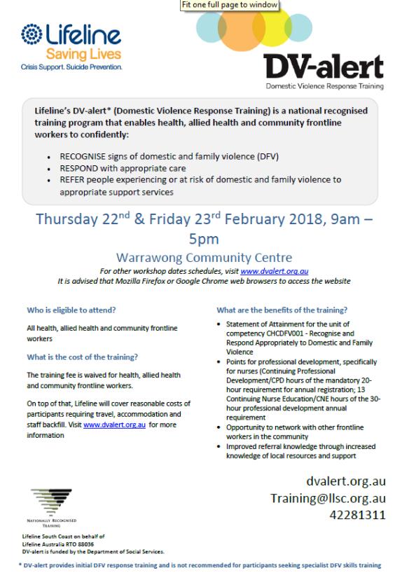 2018-01-11 15_29_42-DV-Alert Flyer Wollongong 22nd Feb 23rd Feb 2018 Illawarra Forum.pdf - Adobe Ac