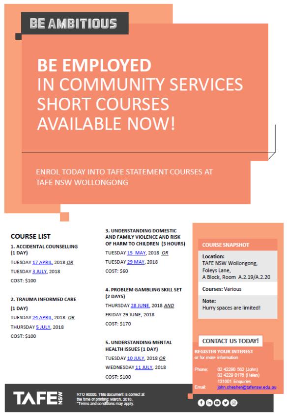 Community Services Short Courses Flyer.pdf - Adobe Acrobat Reader DC