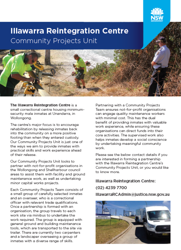 Illawarra Reintegration Centre - Community Projects - Adobe Acrobat Reader DC