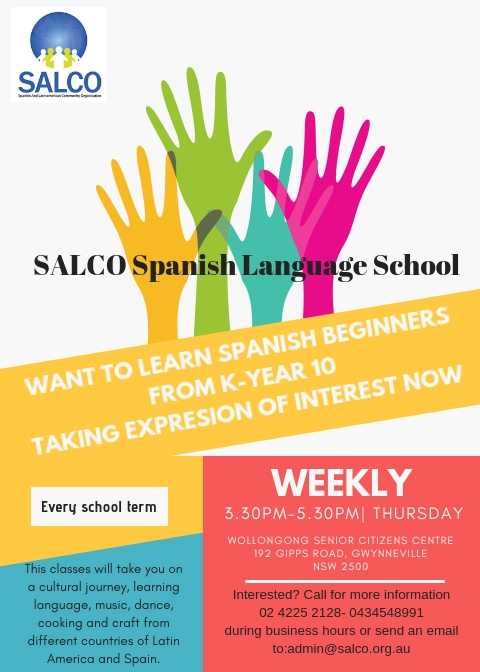 SPANISH LESSONS K-YEAR 10