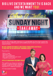 Sunday Night Takeway Flyer