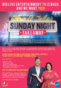 Sunday Night Takeway Flyer